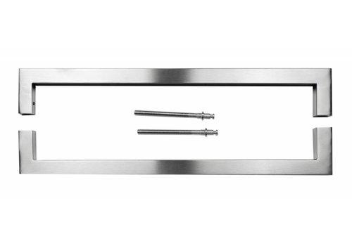 """Stainless steel door handles """"Cubica"""" U 25/500 pair"""