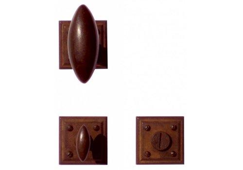 DOOR HANDLE OLIVE RUST CARRE R+WC
