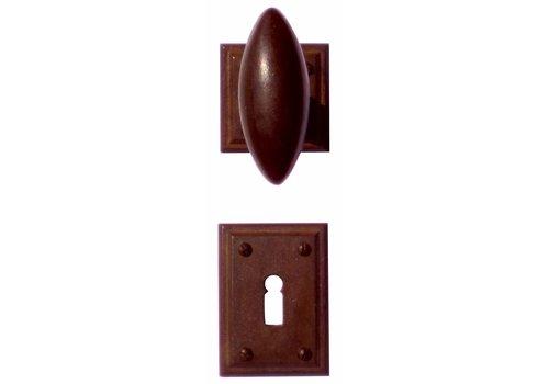 DOOR HANDLE OLIVE RUST CARRE R+E