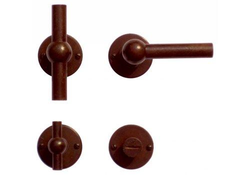 Poignées de porte Petra NM T+L rouille ronde avec WC