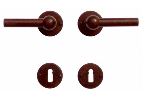 DOOR HANDLE PETRA NM L + L RUST ROUND