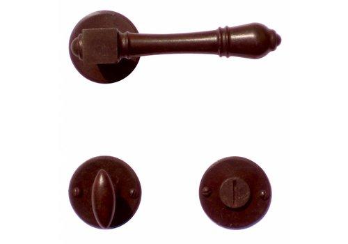 Door handles Carre rust with WC