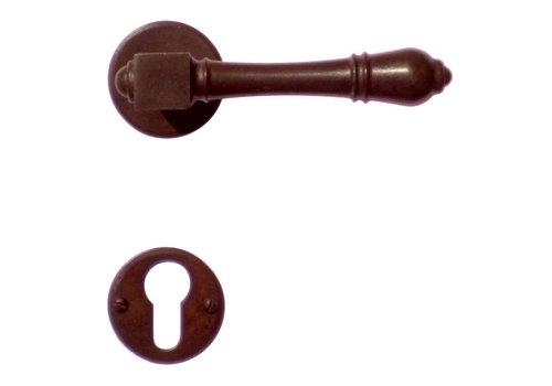 Door handles Carre rust with PZ