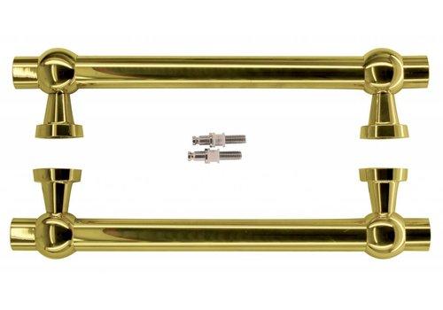 "Door handles ""Petra royal"" 30/300/380 Titanium pair for glass"