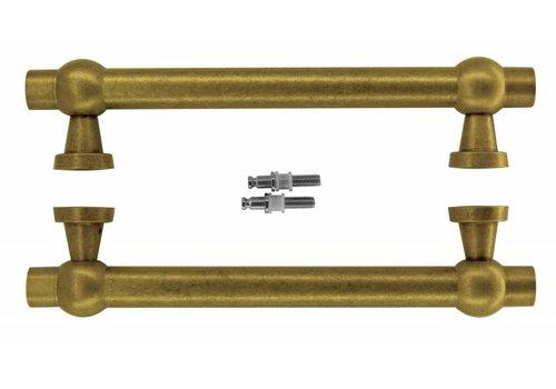 "Door handles ""Petra royal"" 30/300/380 Old Yellow pair for glass"