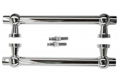 "Door handles ""Petra royal"" 30/300/380 nickel pair for glass"