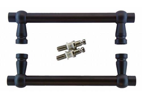 """Black door handles """"Petra"""" 19/200/258 pair for glass"""