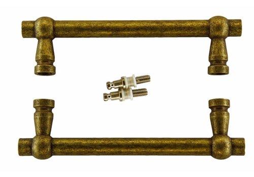 """Door handles """"Petra"""" 19/200/258 Old Yellow pair for glass"""