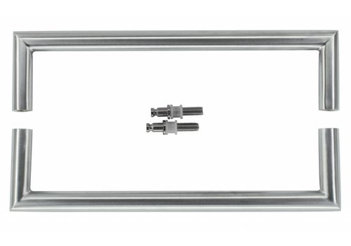 "Stainless steel door handles ""Urg"" U 20/300 pair for glass"