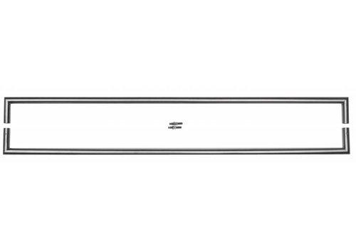 "Stainless steel door handles ""Urg"" U 20/1000 pair for glass"