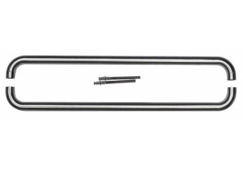 Stainless steel door handles U 25/600 pairs