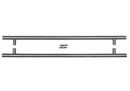 RVS deurgrepen T 25/650/810 paar voor glas