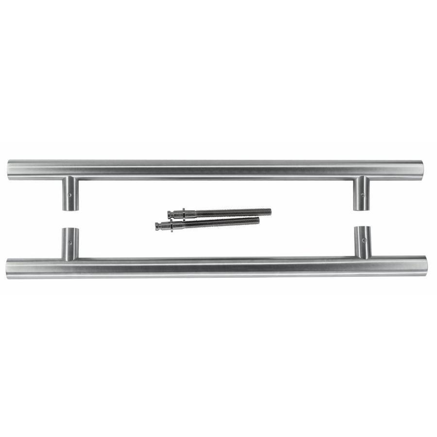 RVS deurgrepen T 25/350/500 paar voor deurdikte > 30 mm