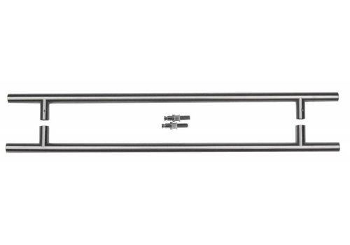 RVS deurgrepen T 20/540/700 paar voor glas