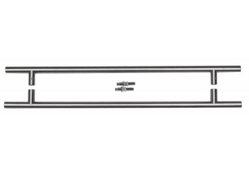 Stainless steel door handles T 20/540/700 pair for glass