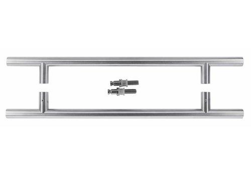 RVS deurgrepen T 20/340/500 paar voor glas