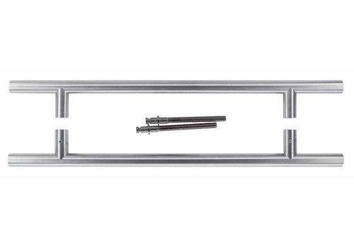 Stainless steel door handlesT 20/340/500 pairs