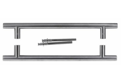 Stainless steel door handles T 20/300/400 pair