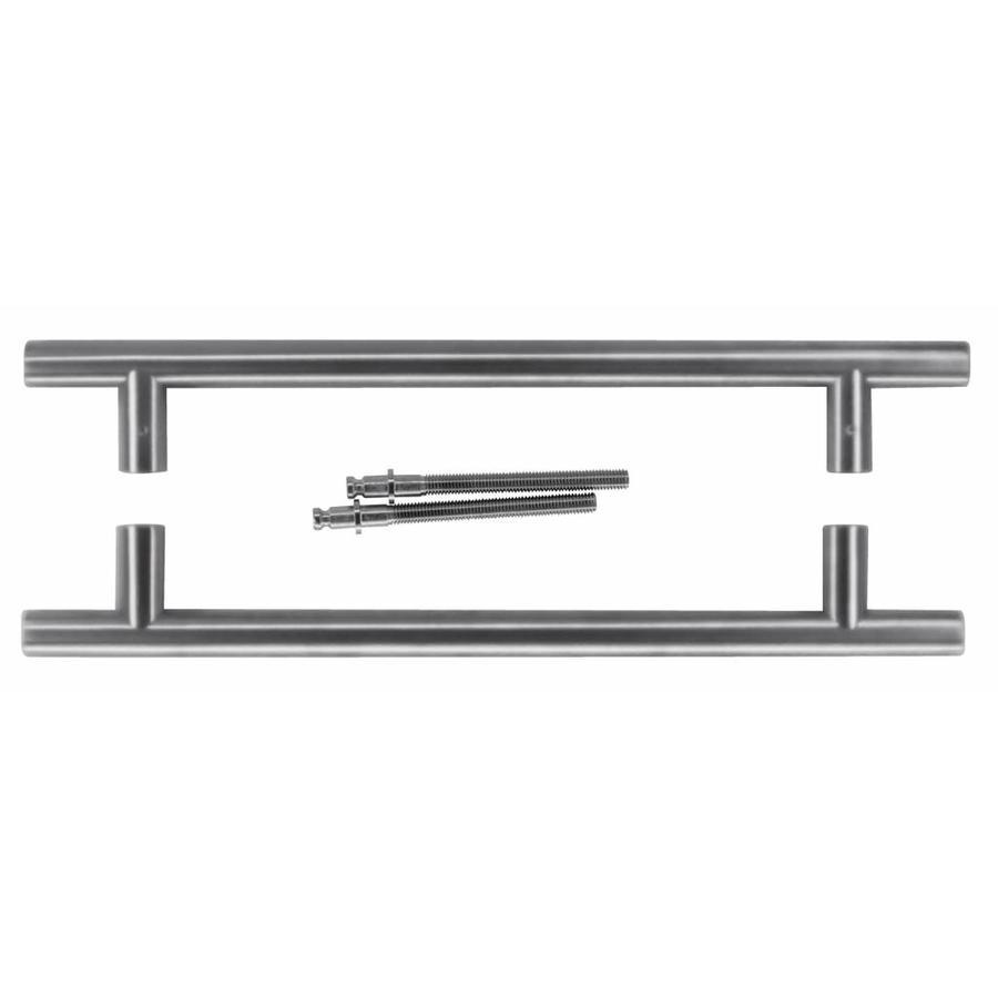 RVS deurgrepen T 20/300/400 paar voor deurdikte >30 mm