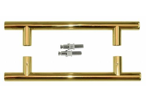 Door handles T 20/200/300 Titanium pair for glass