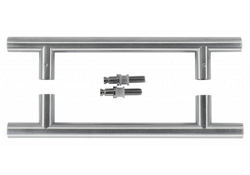 RVS deurgrepen T 20/200/300 paar voor glas