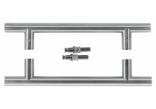 Stainless steel door handles T 20/200/300 pair for glass