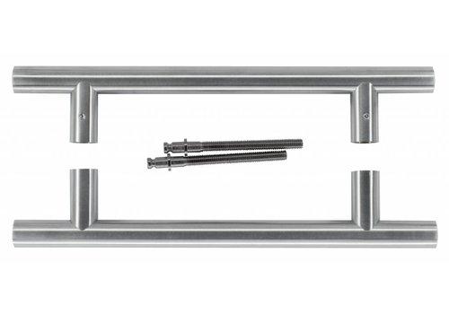 Tirants T 20/200/300, inox paire pour portes épaisseur> 3 cm