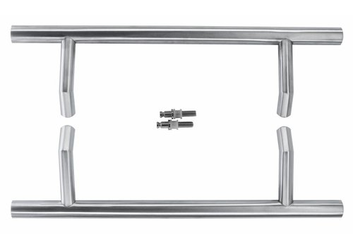 """Stainless steel door handles """"STCOT"""" 25/300/460 pair for glass"""
