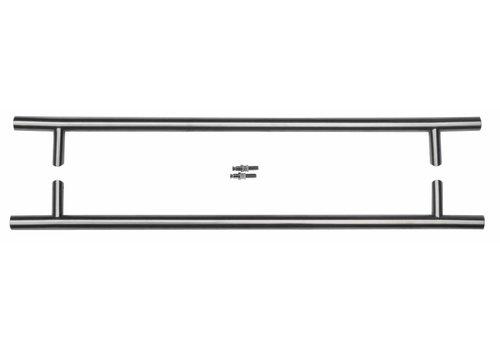 RVS  deurgrepen ST 25/650/810 paar voor glas