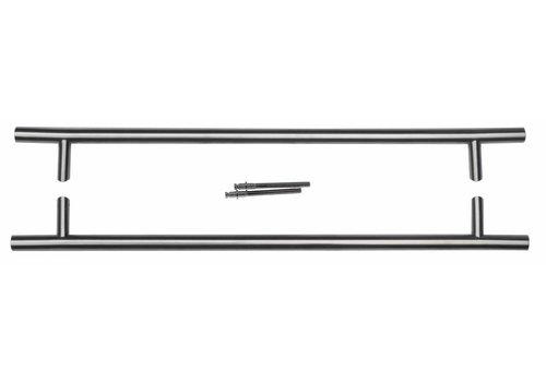 TREKKER ST 25/650/810 INOX PLUS PAAR VOOR DEURDIKTE >3CM