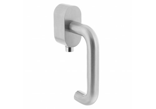 Shut-off railing on oval rosette brushed SKG ***