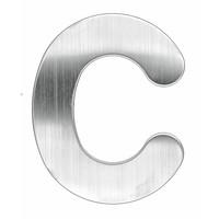 HUISLETTER PLAT C INOX PLUS 130 MM