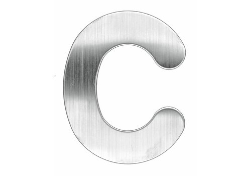 Stainless steel house letter C -130mm
