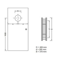 RVS Patrijspoort B2000 400 mm + dubbel mat veiligheidsglas