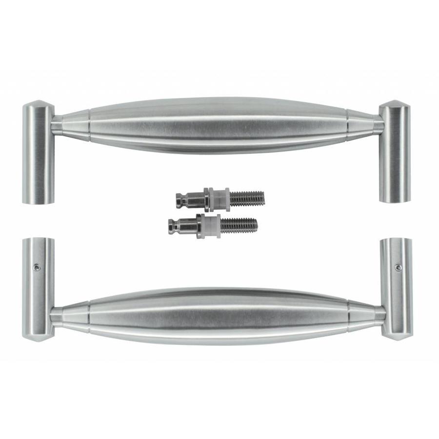 """RVS deurgrepen """"Saturnus"""" U 19/210 paar voor glazen deuren"""