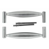 """RVS deurgrepen """"Saturnus"""" U 19/210 paar voor deuren > 30 mm"""