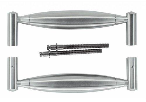 """Stainless steel door handles """"Saturn"""" U 19/210 pair"""