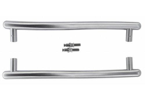 Stainless steel door handles S 25/350/420 pair for glass