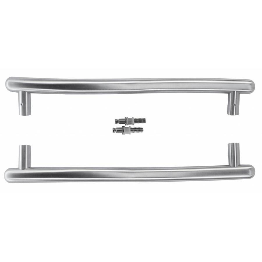 RVS deurgrepen S 25/350/420 paar voor glazen deuren