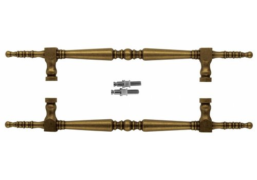 """Door handle """"Rubens"""" T 260/418 Old Yellow pair for glass"""