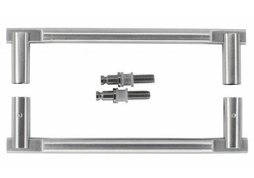 "Stainless steel door handles ""Pluto"" T 19/210/238 pair for glass"