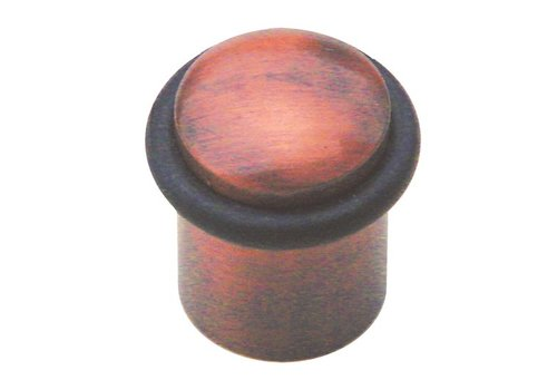 Vloerdeurstop massief brons Ø32x35mm