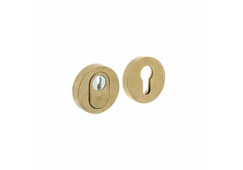 SKG3 Safety rosette round covered with core draw protection brass twisted