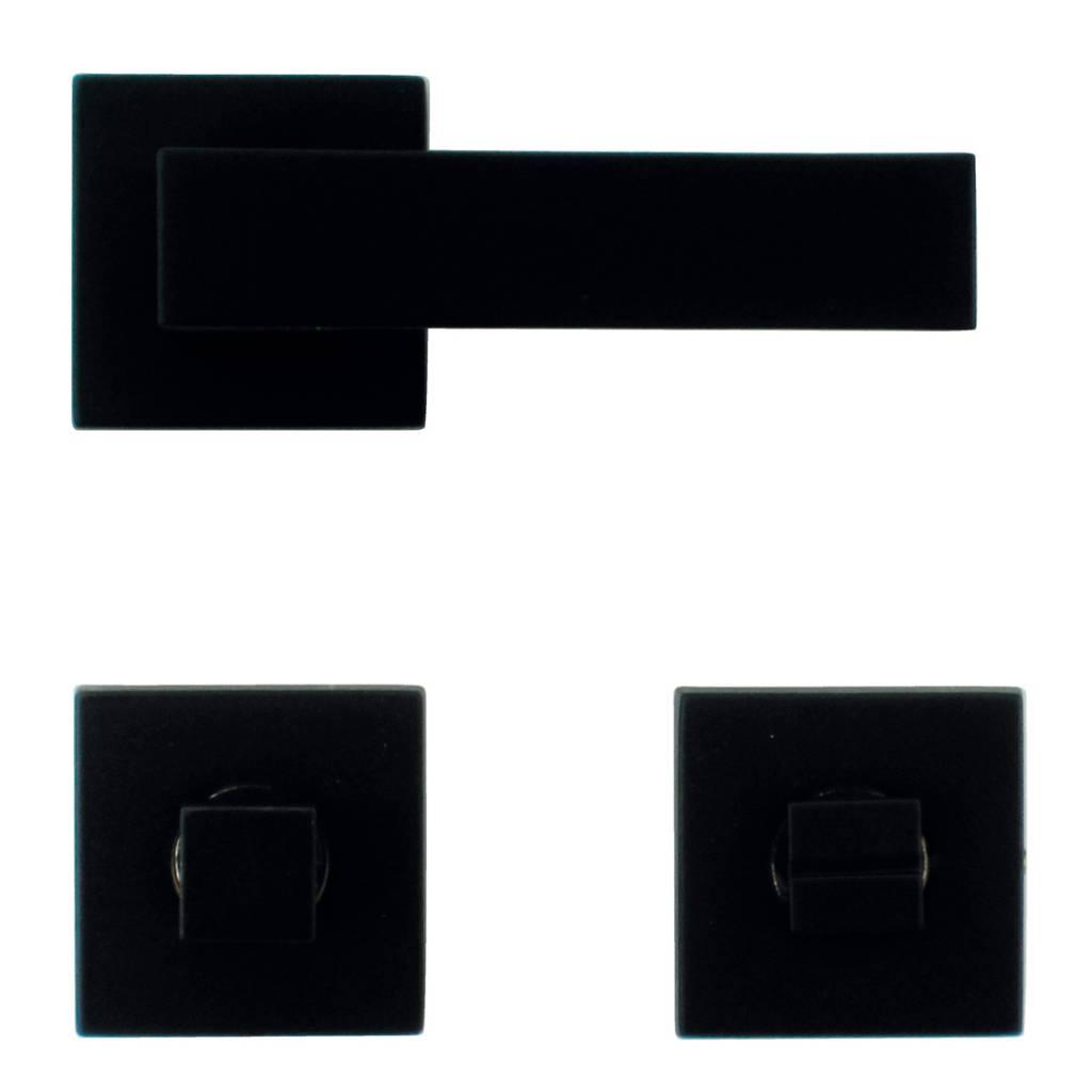 Exclusieve Zwarte Deurklinken Op Vierkant Rozet Gratis Bij U Thuis