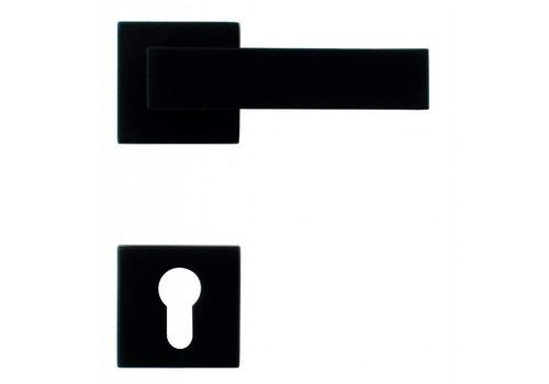 Zwarte deurklinken Cubica met PZ