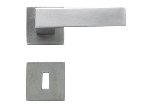 Poignée de porte aspect acier inoxydable Cubica