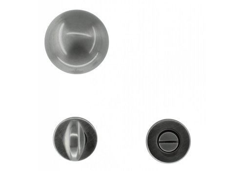 DOOR HANDLE BOCCIA INOX LOOK + WC