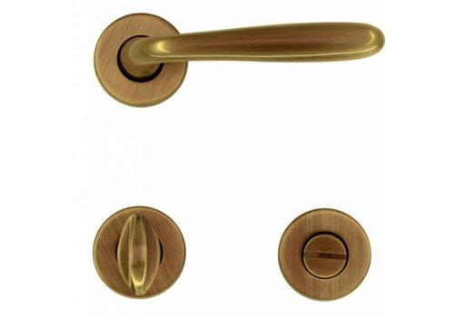 Door handle Alma bronze with WC fittings