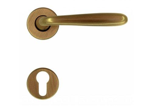 Door handle Alma bronze with cylinder plates