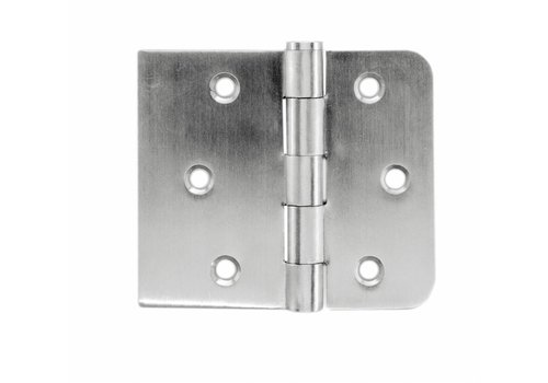 Ball joint straight and rounded corner stainless steel 80x94x2mm